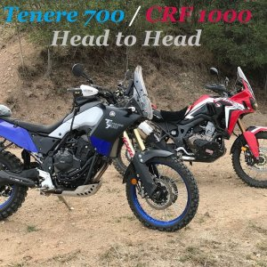 Tenere 700 and Africa twin Adventure